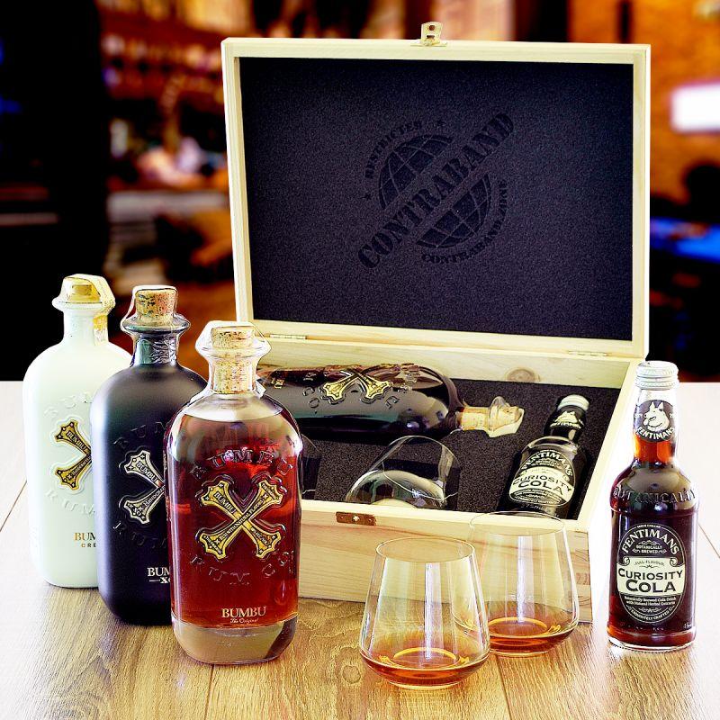 Darčeková sada s rumom Bumbu originálny darček pre muža