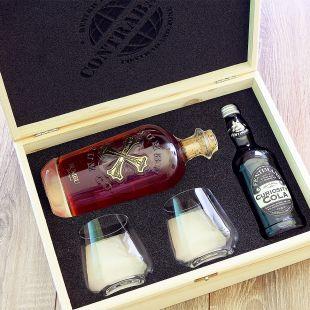 Darčekový kôš pre mužov s rumom Bumbu darček pre poriadneho chlapa