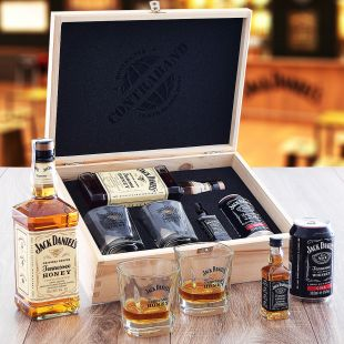 Jack Daniel's Honey Set Contraband Originálny darček pre muža