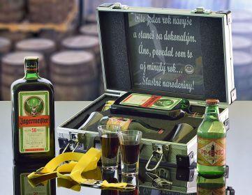 Darčekový hliníkový kufor Jägermeister Contraband Darček pre mužov