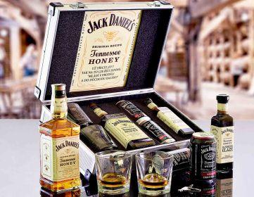 Darčekový hliníkový kufor Jack Daniel 's Honey Contraband Darček pre mužov